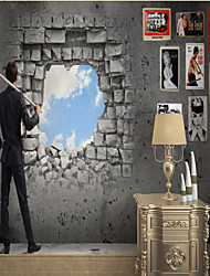 cheap -Custom Self Adhesive Mural Wall Hole Sky Suitable for Background Wall Restaurant Bedroom Hotel Wall Decoration Art