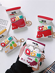 cheap -Fashion Cute Cartoon Pineapple Shape Silicone Case Cover Protective Skin For Apple AirPods 1 2 with Finger Ring Strap