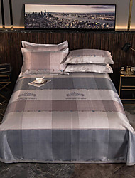 cheap -Summer Mat - 3-Piece Set / 1 Bed Sheet and 2 Pillowcases / Ultra Silky Soft Polyester / Luxury Modern Crown Printed