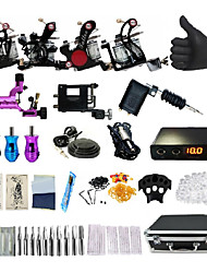 cheap -BaseKey Professional Tattoo Kit Tattoo Machine - 7 pcs Tattoo Machines, Professional / New Aluminum Alloy 18 W Rotary Tattoo Machine / Coil Tattoo Machine / Case Included