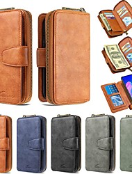 cheap -Case For Xiaomi Redmi 7/Mi 9T / Redmi Note 9 Pro Wallet / Card Holder / with Stand Full Body Cases Solid Colored PU Leather For Xiaomi CC9 Pro/Note 10 Pro/Redmi Note 8T/Note 8 Pro/8/8A/K20 Pro