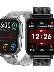 cheap -NO.1 Sports Tracker for Apple/ Samsng/ Android Phones, Multi-face Smartwatch Support Bluetooth Play Music/ Heart Rate/ Blood Pressure Measurement