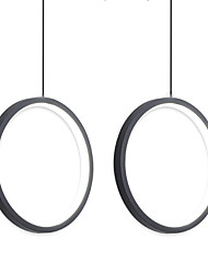 cheap -2pcs/lot Dia40 cm LED20W Mini Pendant Light Aluminum Circle / Mini Painted Finishes Black White Frame for Living Bed Dinning Room Modern 110-120V / 220-240V