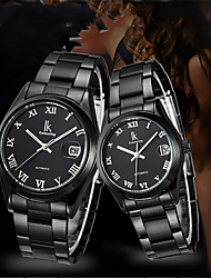 cheap -Unisex Dress Watch Automatic self-winding Vintage Water Resistant / Waterproof Analog Black / Silver White+Silver Black / One Year / Stainless Steel / Calendar / date / day / One Year
