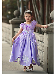 cheap -Sofia Dress Cosplay Costume Flower Girl Dress Kids Girls' A-Line Slip Cartoon Cute Christmas Halloween Children's Day Festival / Holiday Light Purple / Purple (With Accessories) Carnival Costumes