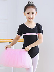 cheap -Ballet Skirts Lace Bow(s) Girls' Training Performance Short Sleeve High Spandex Lace