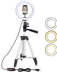 cheap -10IN LED Ring Light with Stand LED Camera Selfie Light Ring for iPhone Tripod and Phone Holder for Video Photography