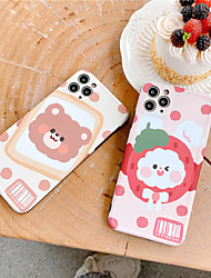 cheap -Hockproof Cute Rabbit Bear Phone Case For iphone 11 Pro X XS Max XR se 2020 Clear Cartoon Cover For iphone 7 8 plus Soft TPU Back Case