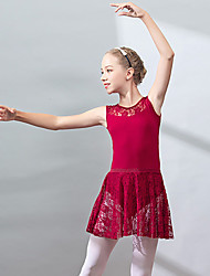 cheap -Ballet Skirts Lace Girls' Training Performance Sleeveless High Spandex Lace