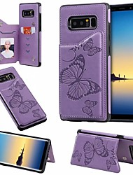 cheap -Case For Samsung Galaxy Note 9 / Note 8 / Samsung Note 10 Card Holder / with Stand Back Cover Butterfly PU Leather