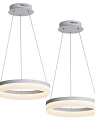 cheap -2pcs/Lot LED20W Modern Pendant Light Led Ceiling Hanging Fixtures Aluminium Acrylic for Living Bedroom Dia 40cm/ Warm White / White/ Dimmable with Remote / WIFI Smart works with Google home and Alexa