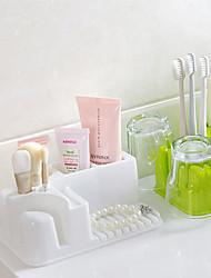 cheap -Rectangle Bathroom Receive A Case Cosmetics Wash Gargle Plastic Shelf Toilet Bathroom Crossover Vehicle Color Random