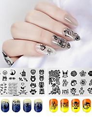 tanie -2 szt. Narzędzie do stemplowania paznokci Szablon do stemplowania Seria zwierzęca / Seria kwiatowa Multi-Design / Recykling Nail Art Manicure Pedicure Modny / Słodki Codziennie