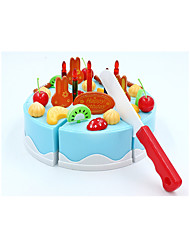 cheap -Toy Kitchen Set Toy Food / Play Food Pretend Play Fruit Cake Dessert Simulation PVC(PolyVinyl Chloride) Kid's Boys' Toy Gift 38 pcs