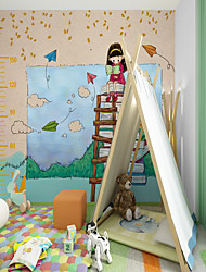 cheap -Customized Self Adhesive Mural Wallpaper Book Girl Children Cartoon Style Suitable For  Children's Room School Party FurnitureRoom Wallcovering  Wall paper