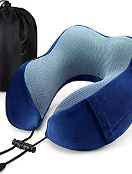 cheap -Travel Pillow Memory Foam Neck Pillow Head Support Soft Pillow for Sleeping Rest Airplane Travel Comfortable and Lightweight Improved Support