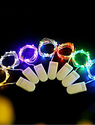 cheap -6pcs Fairy Lights 2M 20LED Wedding Party Decoration LED Christmas Valentine's Day birthday Party Decoration Copper Wire String Light CR2032 Battery Powered With Battery