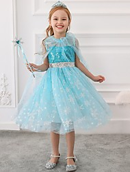 cheap -Princess / Ball Gown Tea Length Wedding / Party Flower Girl Dresses - Tulle Sleeveless Jewel Neck with Bow(s) / Paillette