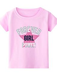 billiga -Barn Småbarn Flickor Kineseri Geometrisk Tryck Halvlång ärm T-shirt Vit