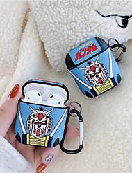 Недорогие -для apple airpods зарядная коробка чехол аниме робот чехол для наушников для air pods 2 силиконовый чехол аксессуары роскошные защитные чехлы
