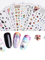 cheap -1 pcs Full Nail Stickers Flower nail art Manicure Pedicure Ergonomic Design / Multi Function Sweet / Cute Party / Evening / Daily