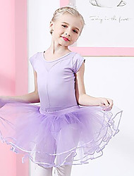 cheap -Ballet Skirts Lace Split Joint Girls' Training Performance Cap Sleeve High Spandex Lace Tulle