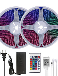 cheap -32.8ft 10M LED Strip Lights RGB Tiktok Lights Waterproof 600LEDs SMD 5050 with 24 Keys IR Remote Controller and 100-240V Adapter for Home Bedroom Kitchen TV Back Lights DIY Deco