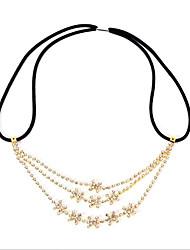 cheap -Women's Hair Jewelry For Gift Festival Flower Glitter Cubic Zirconia Cord Imitation Diamond Yellow 1pc