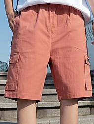 cheap -Men's Basic Daily Holiday Shorts Tactical Cargo Pants - Solid Colored Drawstring Breathable Black Army Green Orange US32 / UK32 / EU40 / US34 / UK34 / EU42 / US36 / UK36 / EU44