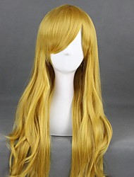 cheap -Cosplay Wig Lolita Curly Cosplay Halloween With Bangs Wig Long Yellow Synthetic Hair 31 inch Women's Anime Cosplay Comfy Yellow