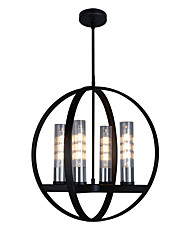 cheap -4-Light 51 cm Candle Style Chandelier Metal Glass Painted Finishes Modern / Nordic Style 110-120V / 220-240V