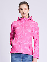 cheap -DZRZVD® Women's Hiking Jacket Hiking Windbreaker Summer Outdoor Solid Color Thermal / Warm Windproof Breathable Quick Dry Top Elastane Single Slider Hunting Fishing Climbing Pink / Green / Rose Red