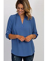 cheap -Women's Shirt Maternity Solid Colored Tops Shirt Collar Daily Summer Fall Blue S M L XL 2XL 3XL 4XL 5XL