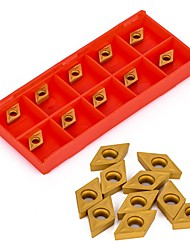 cheap -10Pcs DCMT070204 YBC251 Carbide Inserts  For Lathe Turning Tool Boring Bar Cutter Blades