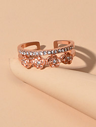 cheap -Women's Ring Rose Gold Alloy Elegant Trendy Sweet Wedding Party Evening Jewelry Flower Wearable