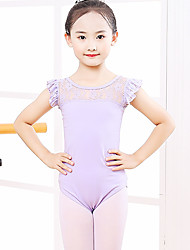 cheap -Ballet Leotard / Onesie Lace Split Joint Girls' Training Performance Sleeveless High Spandex Lace