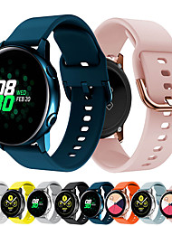 cheap -Smart Watch Band for Samsung Galaxy 1 pcs Sport Band Classic Buckle Silicone Replacement  Wrist Strap for Samsung Galaxy Watch 42mm Samsung Galaxy Watch Active Samsung Galaxy Watch Active 2
