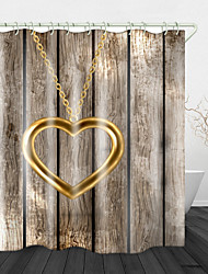 cheap -Heart Pendant Decoration Digital Print Waterproof Fabric Shower Curtain for Bathroom Home Decor Covered Bathtub Curtains Liner Includes with Hooks