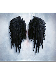 cheap -Angel Wings Vintage Wall Posters And Prints Black And White Wall Art Canvas Paintings Wings Pop Art Wall Picture For Living Room
