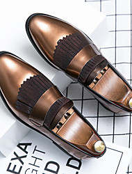 cheap -Men's Loafers & Slip-Ons Casual Daily Walking Shoes PU Breathable Non-slipping Wear Proof Blue Brown Summer