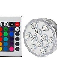 cheap -1pc 5 W Submersible Lights Underwater Lights Waterproof  Remote Controlled  Dimmable Change 1.2 V Suitable for Vases & Aquariums 10 LED Beads