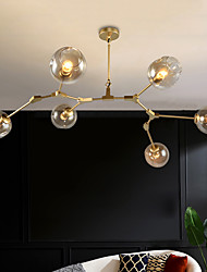cheap -140cm Chandelier Sputnik Design Pendant Light Nordic Gold Metal Painted Finishes Contemporary Living Room Dining Room Bedroom
