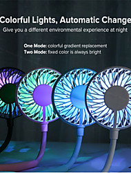 cheap -Mini Portable Hanging Neckband Fan USB Rechargeable Double Fans Air Cooler Conditioner Colorful Aroma Electric Desk Fan For Room