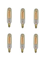 cheap -10pcs / 6pcs 40 W E14 T10 Warm White 2200-2700 k Retro / Dimmable / Decorative Incandescent Vintage Edison Light Bulb 220-240 V