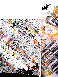 cheap -10 pcs Full Nail Stickers Creative Manicure Halloween Star Sticker Suit Christmas Nail Stickers Manicure Pedicure