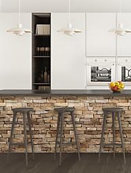 cheap -Yellow brick pattern PVC simulation self-adhesive DIY decorative wall stickers bar stickers