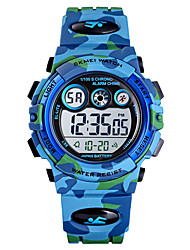 cheap -Kids Digital Watch Digital Sporty Outdoor Water Resistant / Waterproof Analog Green Blue Light Blue / One Year / PU Leather / Calendar / date / day / Chronograph / Noctilucent