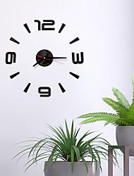 Недорогие -Сделай сам цифровые настенные часы 3d стикер поверхности зеркала бесшумные часы домашнего офиса декор настенные часы для спальни офиса без батарей