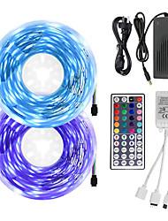 cheap -10m LED Light Strips RGB Tiktok Lights 5050 10mm LED Tape Non-waterproof DC 12V 600leds with 44key IR Remote Controller Kit