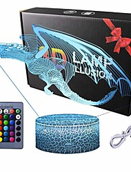 cheap -Big Dinosaur Gifts Dinosaur Light Dinosaur Party Supplies 16 Color Changing Kids Night Light with Touch and Remote Control Kids Dinosaur Toys Lamp Birthday for Kids Boys